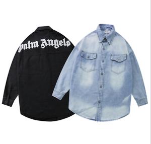 2020 PALM ANGELS Jeanshemd für Männer und Frauen mit Briefdruck Mode zwei Farben