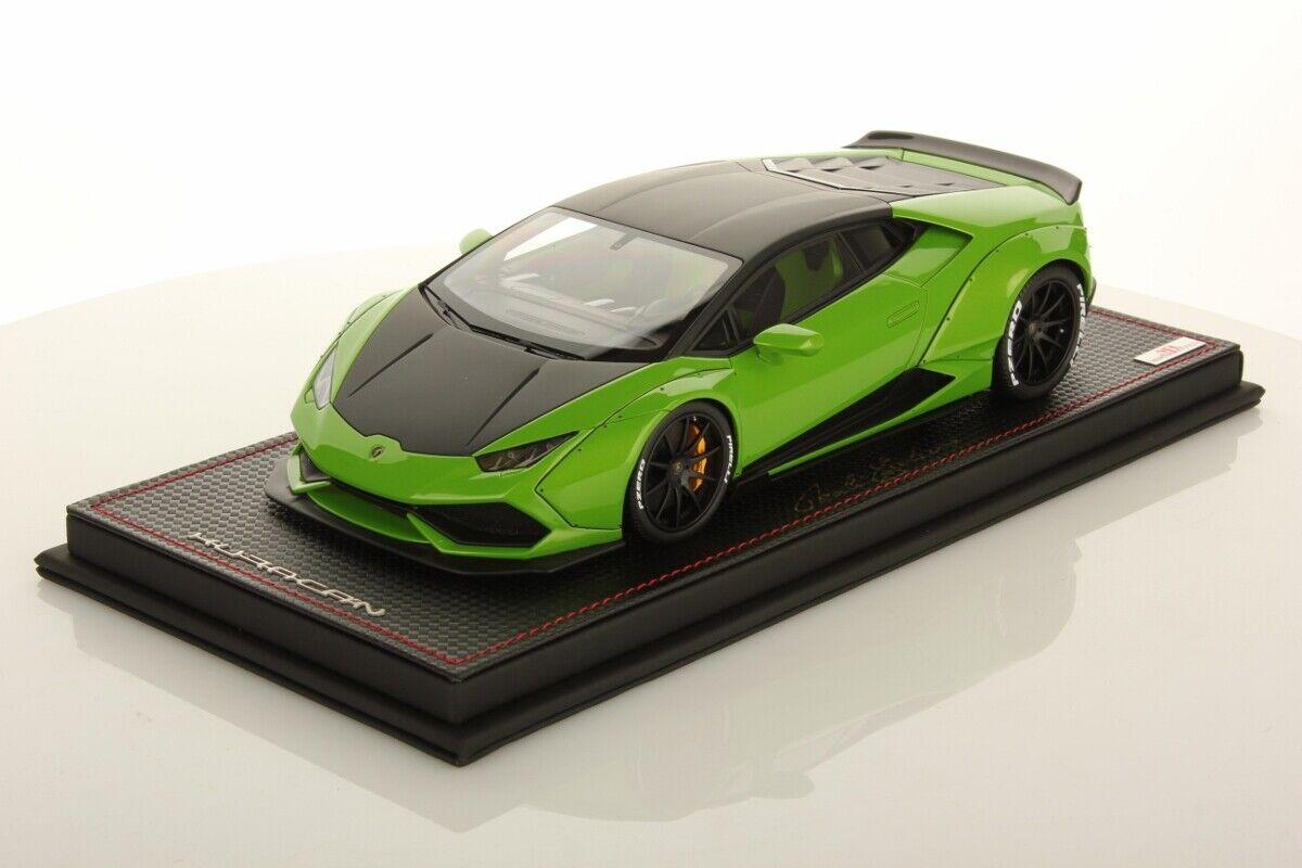 MR Collection Lamborghini Huracan Aftermarket vert Manthis noir Nemesis 1 18