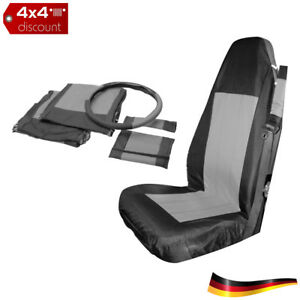 Front-Seat-Cover-Set-Black-amp-gray-Jeep-Wrangler-TJ-1997-2002