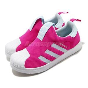 traje director atravesar  adidas Originals Superstar 360 C Shock Pink Sky Tint Blue Kid Preschool  FV3366 | eBay