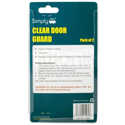 Claro Coche Protectores Reflectores de puerta puertas guardias evitar arañazos Proteger Los Bordes