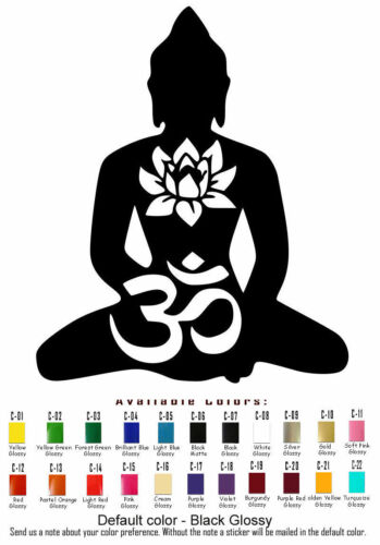 Buddha Vinyl Decal Sticker Car Window Yoga Sangha Buddhism Dharma USA Seller