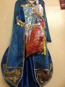 Girls Disney Princess Merida Costume bow and arrow Fancy Dress Kids  3-10 YS