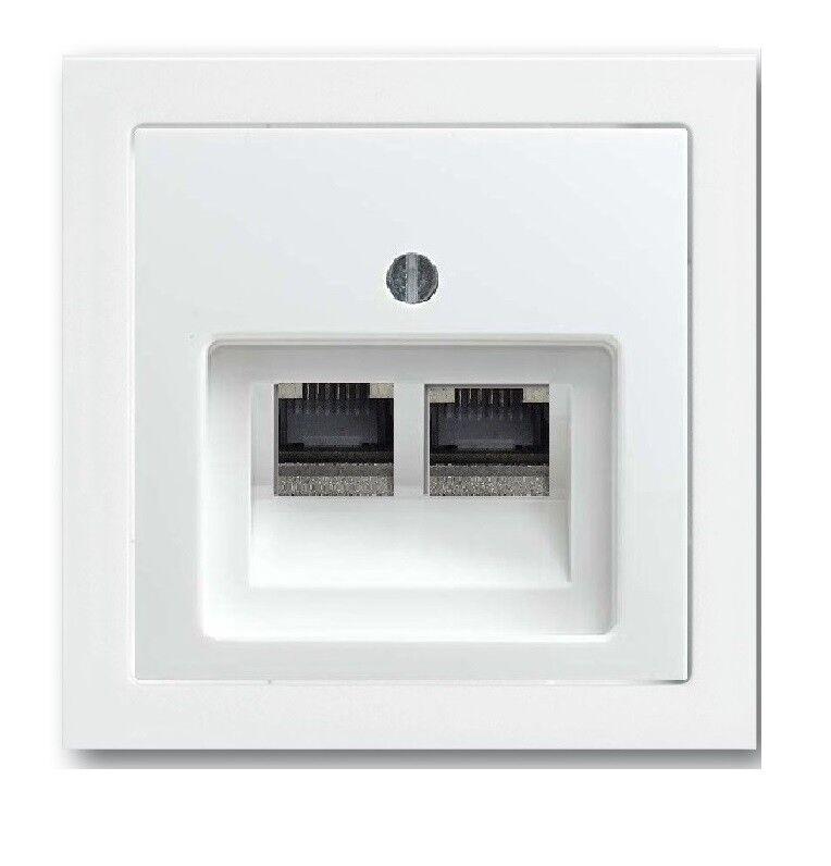 BUSCH JÄGER Set 2fach 2fach 2fach Netzwerkdose Patchdose Cat.6A UAE Future Linear Studioweiß  | eine große Vielfalt  b04cbb