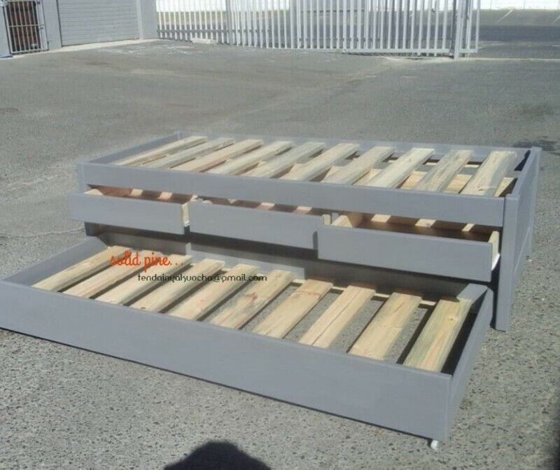 Solid Single Storage Bed