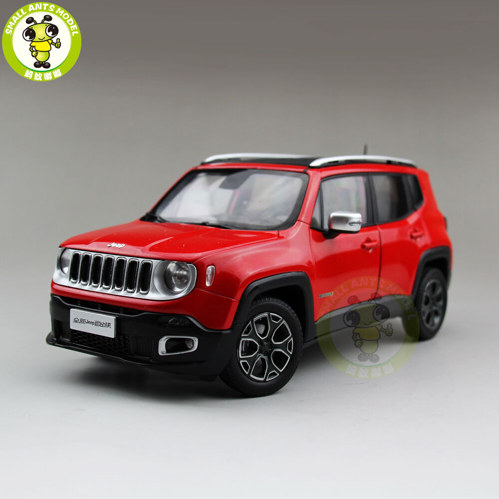 1 18 JEEP RENEGADE Cherokee Diecast Metal Voiture SUV Modèle Collection eau Rouge