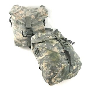 2 USGI MOLLE II Sustainment Pouches for Army ACU Military Rucksack, DEFECT