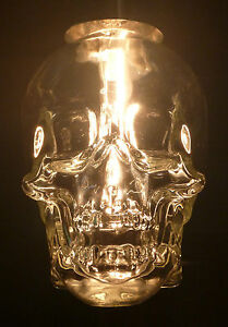 CRYSTAL HEAD VODKA SKULL BOTTLE EMPTY HANGING CEILING LIGHT ...