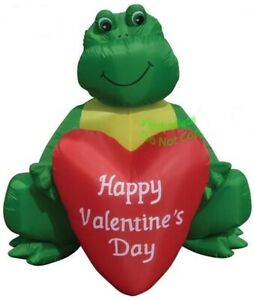 BIG  HEART FROG TOAD  VALENTINES DAY 6 FT AIRBLOWN INFLATABLE  DECORATION