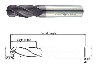 Cobra Carbide 25526 6 MM Carbide End Mill Ball Nose 4 FL TIALN OAL 50 MM