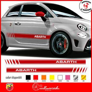 FASCE-ADESIVE-FIAT-500-ABARTH-595-adesivi-fasce-LATERALI-strisce-per-auto