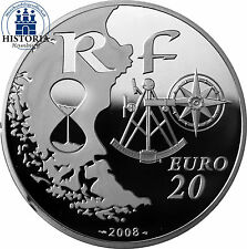 #1155 Frankreich 20 Euro Silber 2008 PP Silbermünze 5 Oz  L´ Armada de Rouen