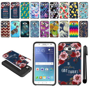 For-Samsung-Galaxy-J7-J700-Hybrid-Bumper-Protective-Hard-TPU-Case-Cover-Pen