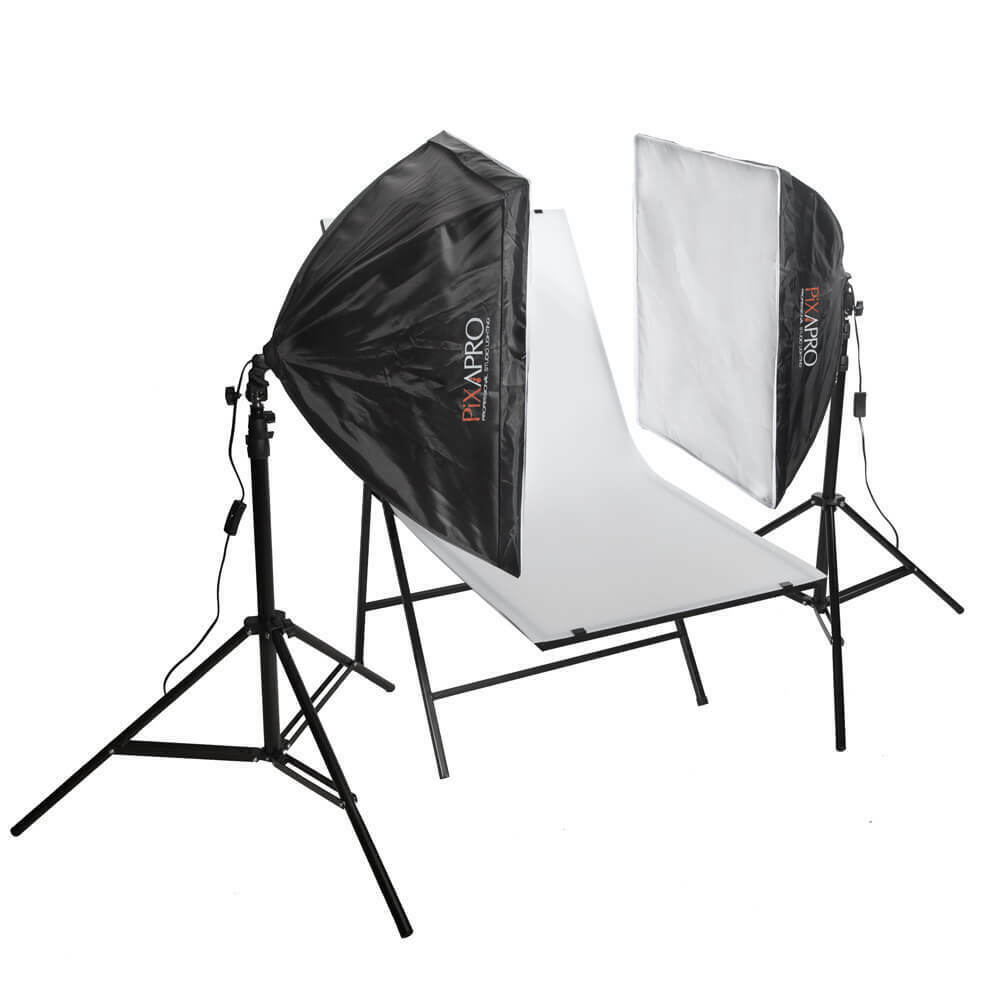 PIXAPRO 850W EzyLite Continuous Lighting Shooting Table Product Photography Kit