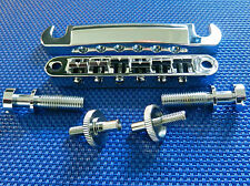 Gibson USA Les Paul Tune-O-Matic Bridge Tailpiece and Studs Chrome Studio T