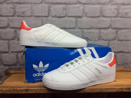 Eu Heel 9 Gazelle Ladies Uk Red Og 1 2 26 Trainers 'Adidas White Leather xzwBwqSt