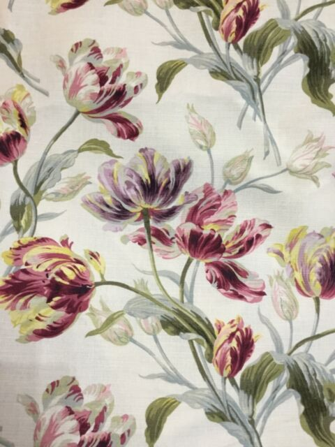 Laura Ashley Gosford Cranberry Fabric 15 Metre Roll For Sale Online Ebay