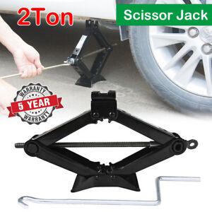 2 Ton Emergency Wind Up Scissor Jack Lift for Car Van Garage with Speed Handle