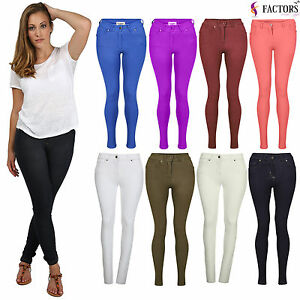 NEW-LADIES-SKINNY-FIT-COLOURED-STRETCHY-JEANS-WOMENS-JEGGINGS-TROUSERS-SIZE-8-20