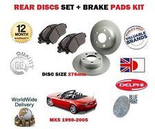 FOR MAZDA MX5 + EUNOS 1.6 1.8 1998-2005 REAR BRAKE 276mm DISCS SET + PADS KIT