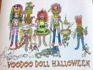 Details about VOODOO DOLL HALLOWEEN Fine Art Giclee Print, Jamie Hayes NEW  ORLEANS, Mummy, cat