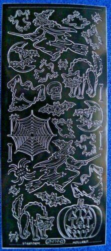 """Zierstickerbogen Scrapbooksticker  Starform /"""" Halloween /"""" Sticker 29"""