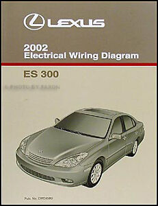 2002 lexus es 300 wiring diagram manual original es300 electrical schematic oem ebay. Black Bedroom Furniture Sets. Home Design Ideas