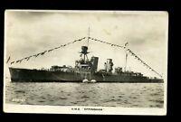 Royal Navy HMS Effingham D98 cruiser vintage RP PPC