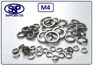 4MM M4 4mm Acciaio Inox Rondella Elastica grado DIN7980 304 A2 st/acciaio ST/ST  </span>