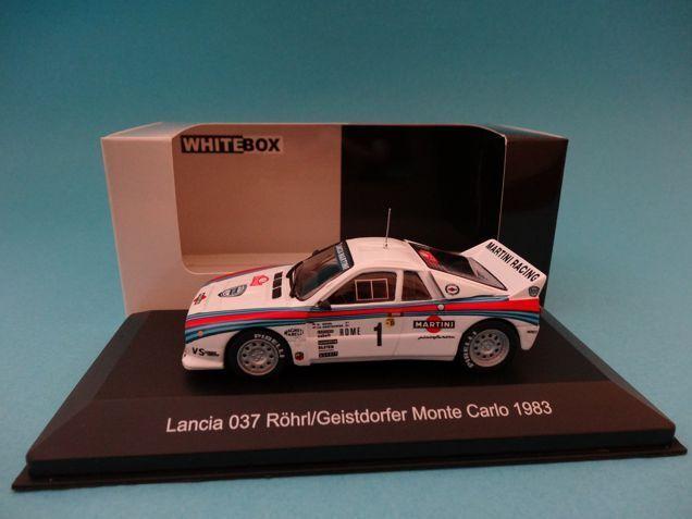 LANCIA 037 #1 - ROHRL - RALLY MONTE CARLO 1983 - 1/43 NEW IXO WHITEBOX WBR002