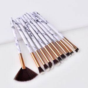 10Pcs-Pinceaux-Maquillage-Fard-Cosmetique-Poudre-Paupieres-Eye-liner-Yeux-Brosse