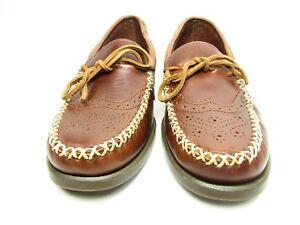 Marron pour en Moccasins Campsides Hommes Sebago Richelieu Wingtip Cuir Chaussures CxerdBWo