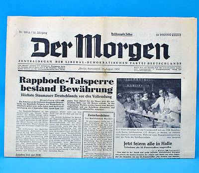 Der Morgen 16. August 1958 Zum 61. Geburtstag Hochzeit 16.08.1958 Ddr 16.8.1958