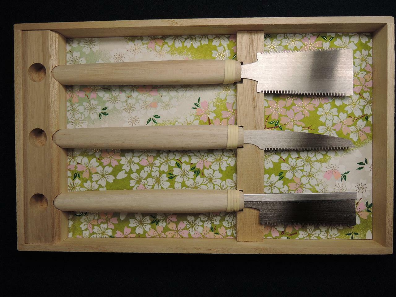 Japanese Hishika Bessho Jiro SENNEN SAKURA Precision Woodwork Saws Set of Three