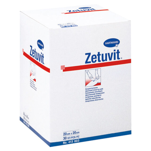ZETUVIT Saugkompressen unsteril 20 x 20 cm 30 St PZN 01981661