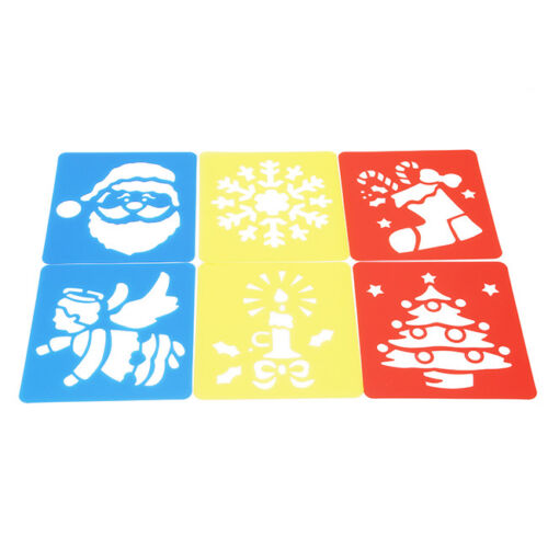 6X Novelty  Painting Stencils Embossing Cartoon Diary Scrapbook Kid Toy SA