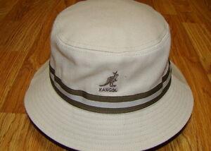 Image is loading Beige-KANGOL-Stripe-LaHinch-Bucket-Hat-Style-K4012SP 4900aea885cb