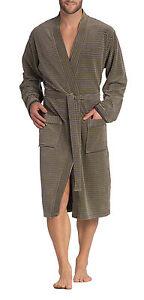 New-Vossen-Men-039-s-Bath-Robe-Dressing-Gown-Flavio-Graphite