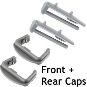 FULL-SET-fits-Lamona-DISHWASHER-BASKET-RAIL-CAPS-REAR-X2-amp-RAIL-CAPS-FRONT-X-2