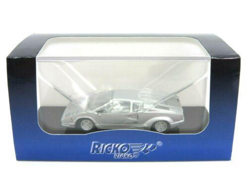 RICKO by BREKINA Modell 1:87//H0 PKW Lamborghini Countach 25th silber #RIK38341