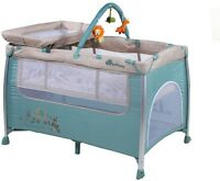 Extra Safety Babanu Dreamer 3 In 1 Travel Cot Baby Removable Change Top Bassinet