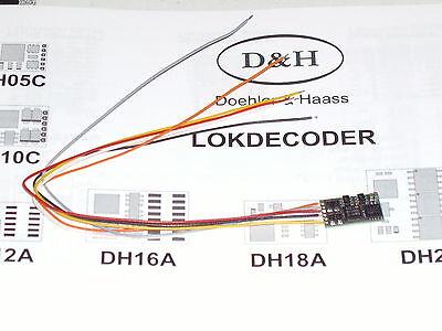 Döhler und Haas Fahrzeugdecoder DH10C-3 für SX1, SX2 und DCC