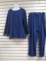 - Sport Savvy 2 Piece Outfit Jacket & Pants, Navy Blue, Size Large