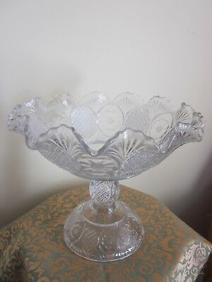 Decorative Arts Antiques Eapg Daisy Compote 8""