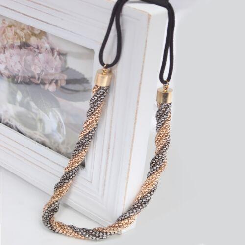 Luxus Haarband Haarschmuck Haargummi Stirnband Haarband Kopfband Haarkette