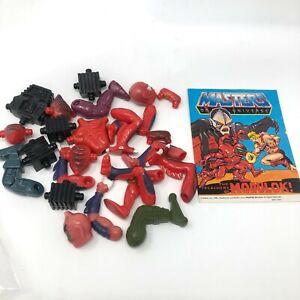 MOTU- Modulock Multibot LOT - Vintage Mattel Masters Of The Universe w/ Comic