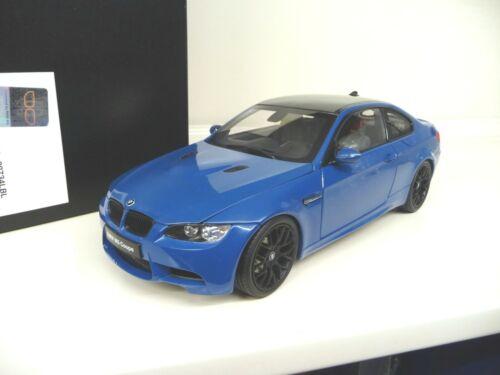 1:18 Kyosho bmw m3 e92 Coupe langnaseca azul 2005-2013 nuevo New