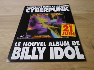 Billy-Idol-Cyberpunk-Originale-Vintage-French-Press-Pubblicita