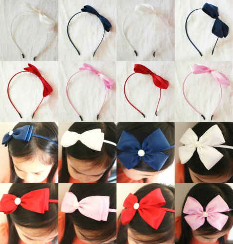 Handmade Girls Kids Chidren Ladies Ribbon Bow Headband Hairband Hair Accessories