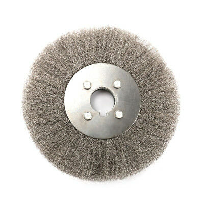 """8 Inch Flat Crimped Stainless Steel Wire Brush Wheel for Grinder 5//4/"""" Bore 1Pc"""